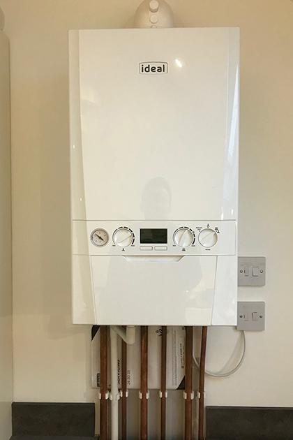 New Ideal boiler installation in Woodingdean