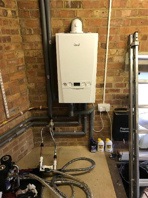New Boiler Installation in Saltdean complete with a heating system flush